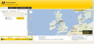 Google Maps for Business AA Route planner