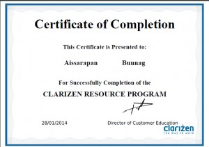 Certificate Clarizen Project Management Resource Program