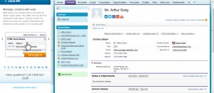 11 CRM Test Drive - Manage Contact